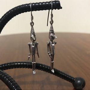 Vintage Sterling Marionette Earrings